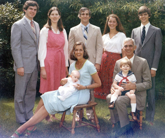 Al Kerth%2C upper left%2C with his first wife%2C Kyle%2C and family.